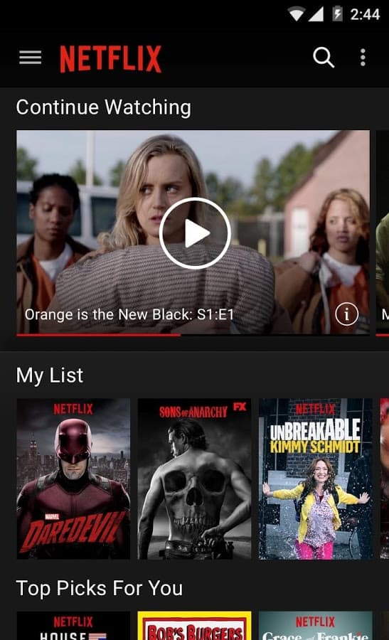 netflix 4.4.2 apk for android