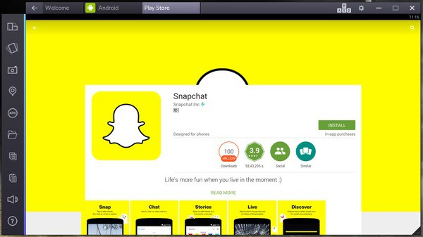 snapchat online for pc