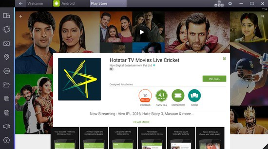 hotstar live tv for pc