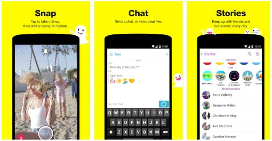 snapchat online login signup
